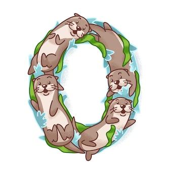 O per cute otter