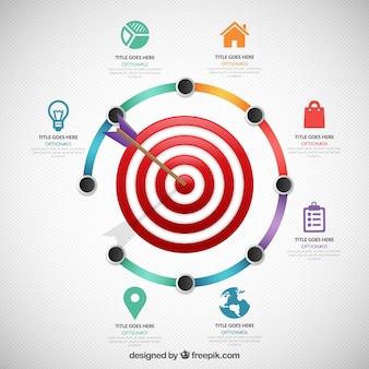 Obiettivo affari infografica