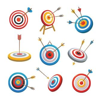 Obiettivo con le icone della freccia impostate