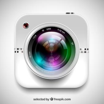 Obiettivo della fotocamera realistico