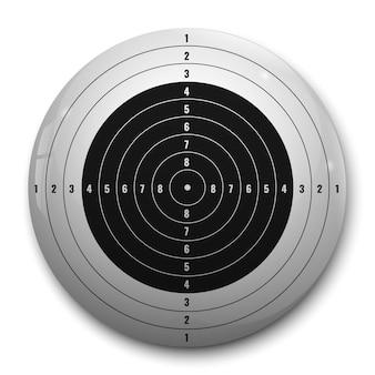 Obiettivo realistico 3d per fucile o pistola