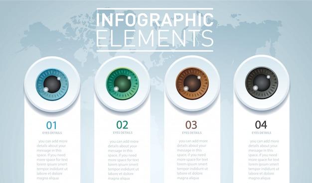 Occhi a colori infografici
