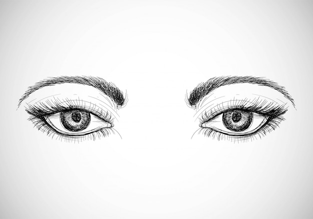 Occhi disegnati a mano belli