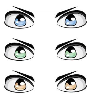 Occhi maschili di diversi colori