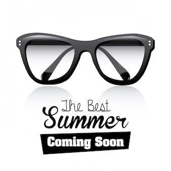 Occhiali neri in estate