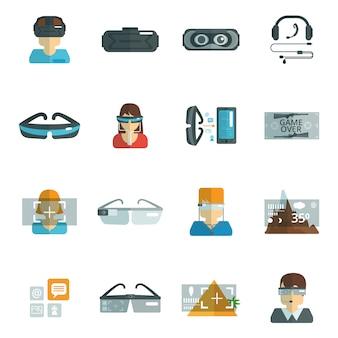 Occhiali virtuali piatti