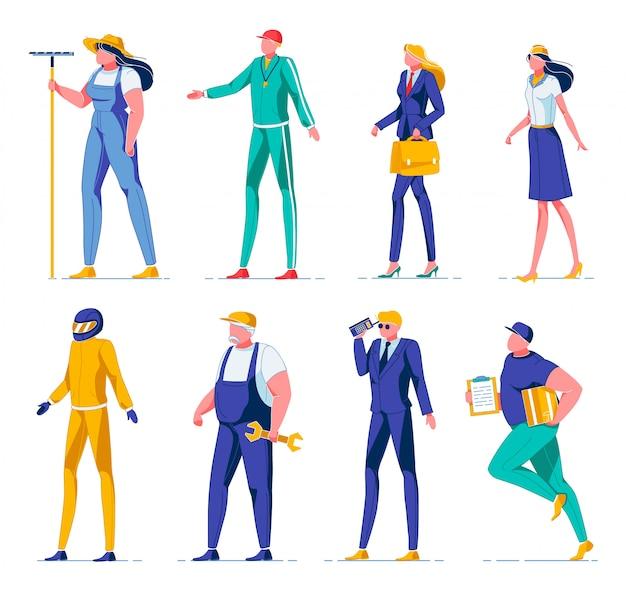 Occupazione per uomo e donna illustrazione vettoriale.