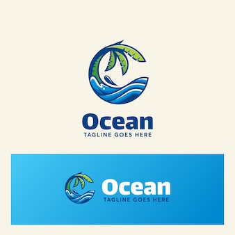 Ocean logo template estate moderna