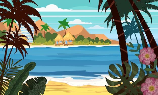 Oceano del paesaggio della spiaggia di vista sul mare