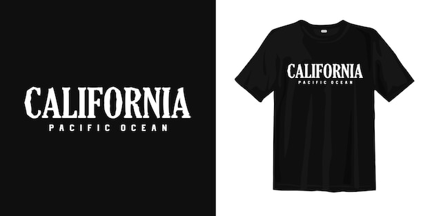 Oceano pacifico della california. t-shirt design stile urban wear