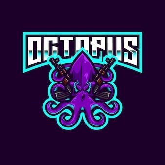 Octopus esport logo modello