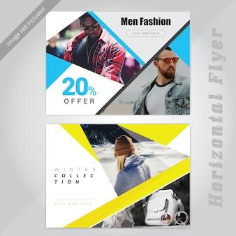 Offerta di moda social media banner design orizzontale