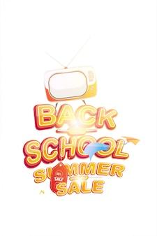 Offerta di saldi estivi 50 per ritorno a scuola