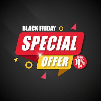 Offerta speciale di black friday banner design template