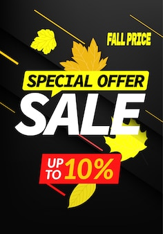 Offerta speciale di vendita autunno