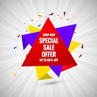 Offerta speciale di vendita banner design creativo di vendita