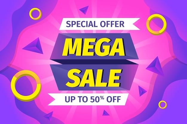 Offerta speciale mega vendita sullo sfondo