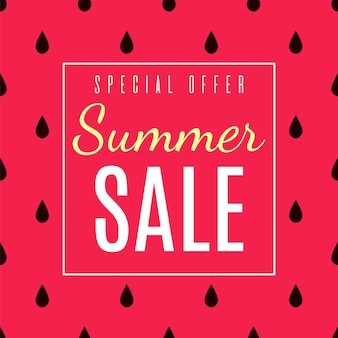 Offerta speciale per le vendite estive pubblicità piatta.