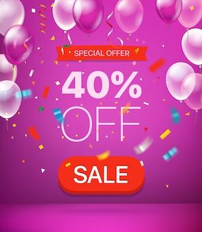 Offerta speciale sconto del 40% sul banner