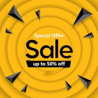 Offerta speciale vendita banner design quadrato