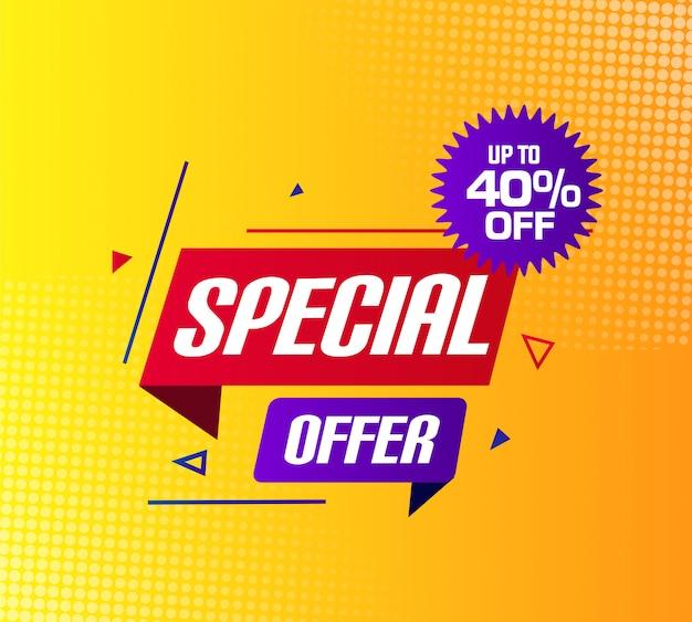 Offerta speciale vendita banner design
