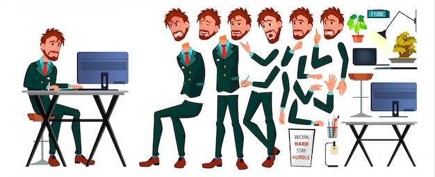 Office european worker