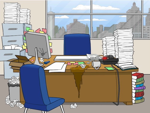 Office messy front