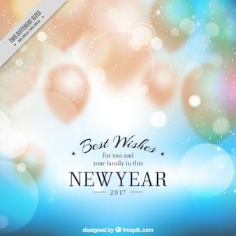 Offuscata palloncini sfondo del nuovo anno