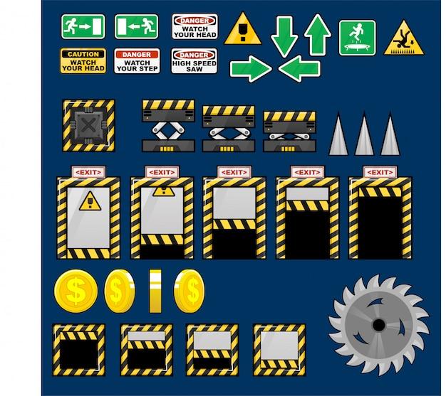 Oggetti di gioco di fabbrica