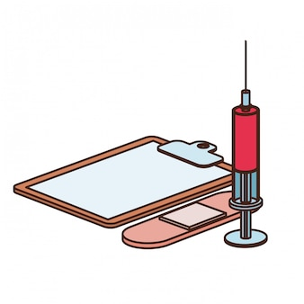 Oggetti di medicina isolati