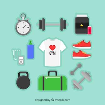 Oggetti sportivi e una t-shirt