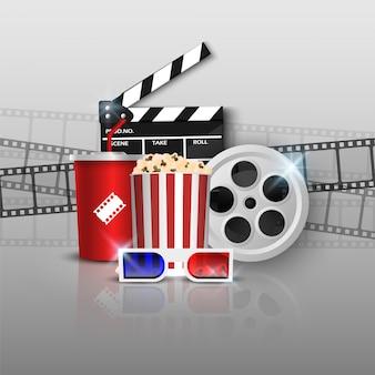 Oggetto cinema su grigio