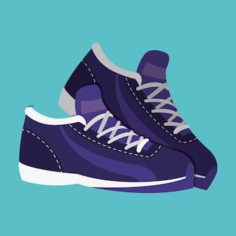 Oggetto di moda sneakert per giocare a tennis