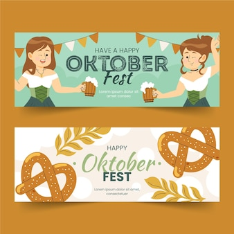 Oktoberfest banner banner disegnati