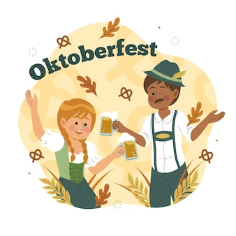 Oktoberfest disegnati a mano