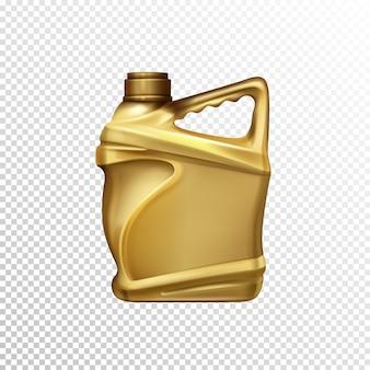 Olio motore, lubrificante per auto o additivo benzina vuota bottiglia di plastica 3d realistico vettoriale modello iso