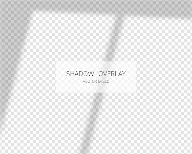 Ombra morbida vettoriale ed effetto di sovrapposizione di luce. ombre naturali isolate su sfondo trasparente.