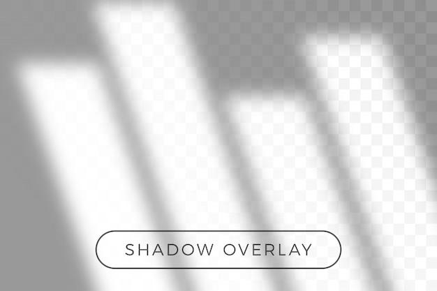 Ombra sovrapposta di illuminazione naturale in stile realismo con sovrapposizione di effetti di luce ombra trasparente.