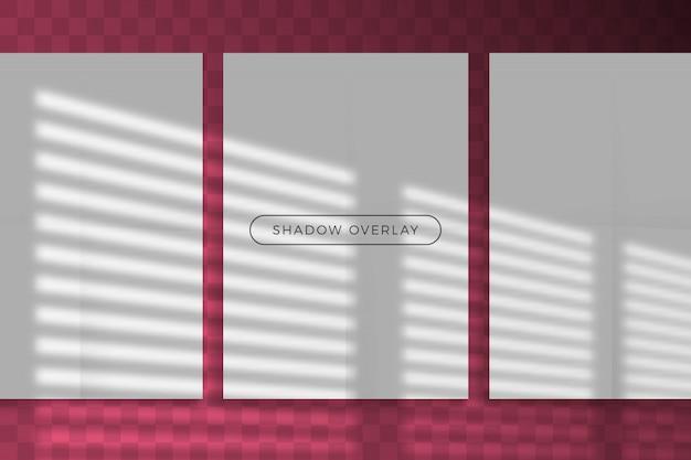 Ombra sovrapposta di stile di illuminazione naturale con sovrapposizione di effetti di luce ombra trasparente.