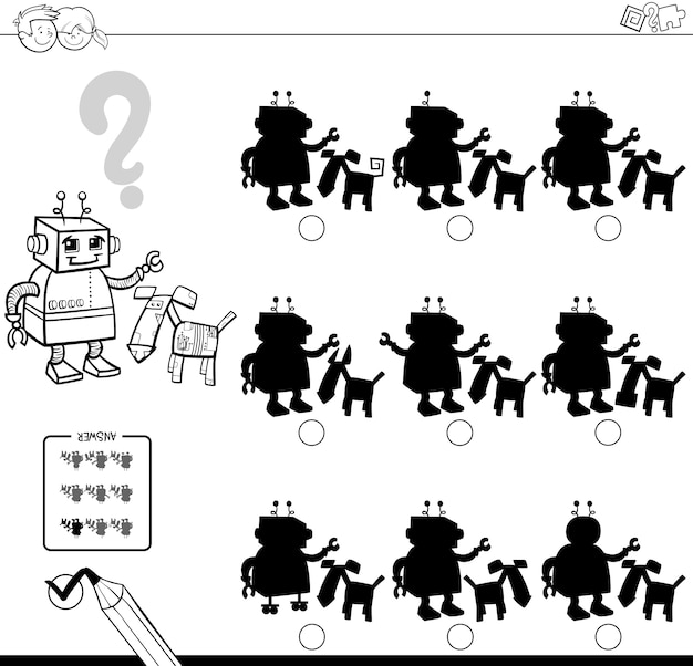 Ombre con robot da colorare