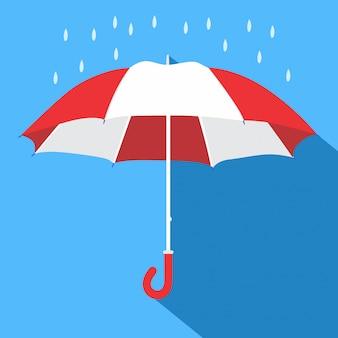 Ombrello piatto. stagione piovosa