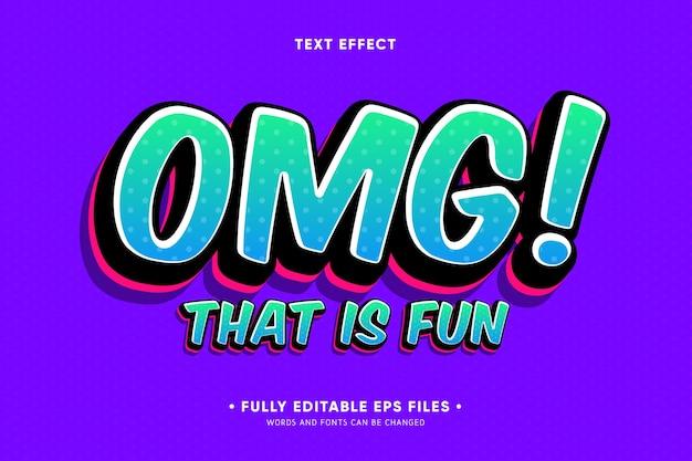 Omg che è divertente effetto di testo