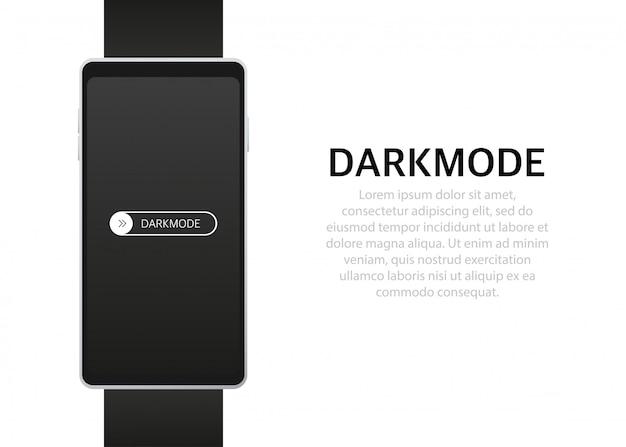 On off switch selettore modalità oscura per schermi del telefono pulsanti chiari e scuri
