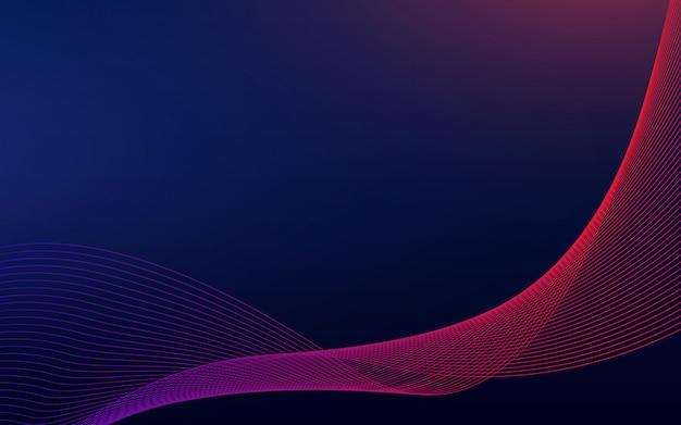 Onda astratta di spettro colore blu e rosso del fondo astratto dell'onda.