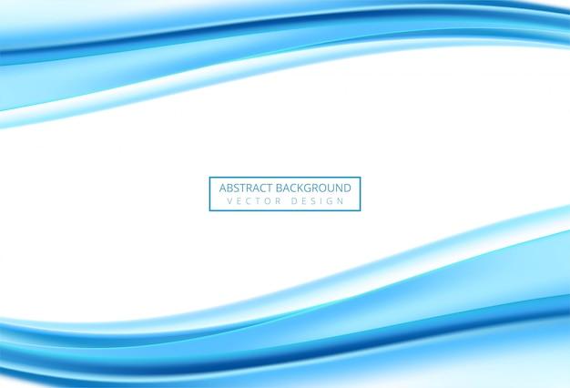Onda blu di affari alla moda moderni su fondo bianco
