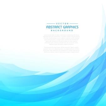 Onda blu di sfondo astratto
