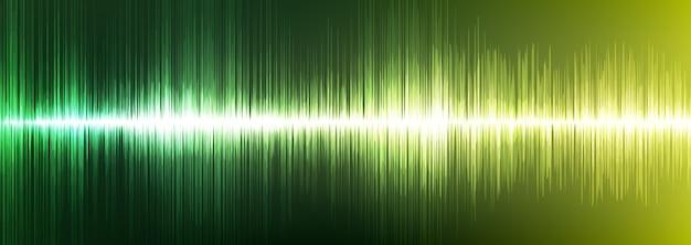 Onda sonora digitale verde chiaro