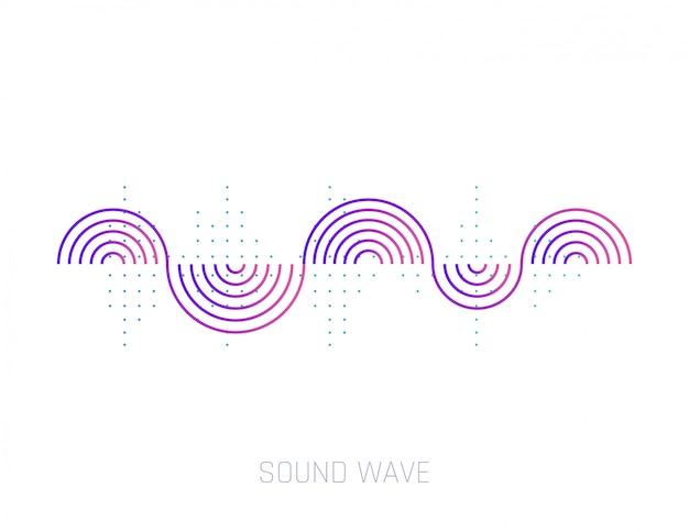 Onda sonora vettoriale. onde sonore colorate per feste, dj, pub, club, discoteche