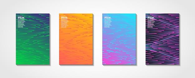 Onde colorate lucide con linee set di copertina minimale