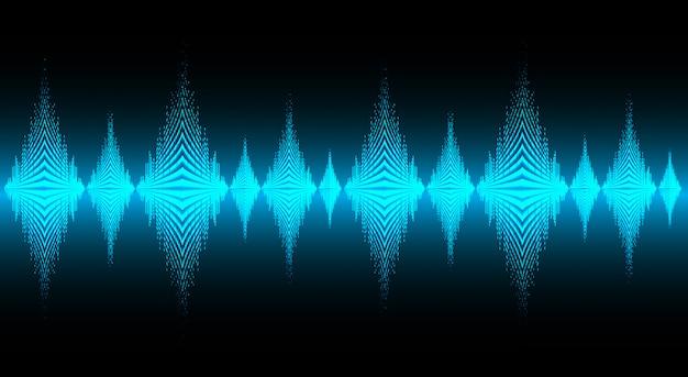 Onde sonore oscillanti sfondo blu scuro